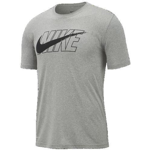 (取寄)ナイキ メンズ レジェンド スウッシュ Tシャツ Nike Men's Legend Swoosh T-Shirt Dark Grey Heather Black
