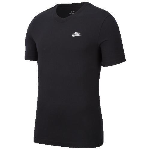 (取寄)ナイキ メンズ エンブロイダード フューチュラ Vネック Tシャツ Nike Men's Embroidered Futura V-Neck T-Shirt Black White