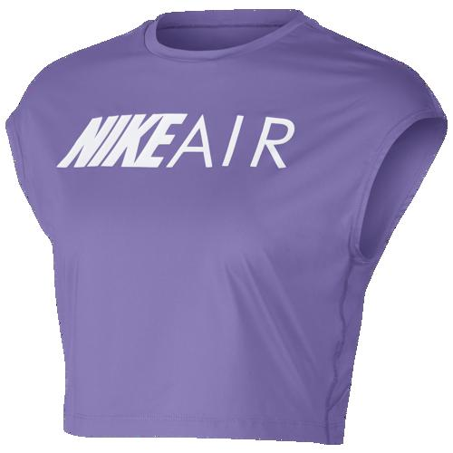 (取寄)ナイキ レディース エア クロップ トップ Nike Women's Air Crop Top Space Purple