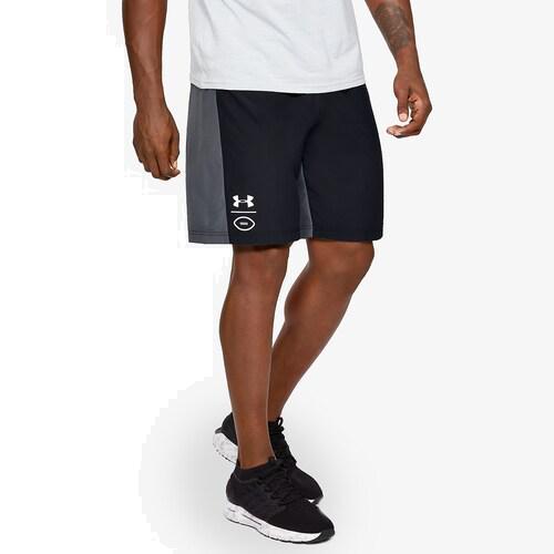 (取寄)アンダーアーマー メンズ フットボール ショーツ Underarmour Men's Football Shorts Black White