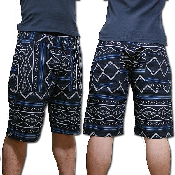 earthly chord Denim Rag Pants Boot Cut #EC0222 アースリーコード ブルーチェック デニム ラグショーツ パンツ
