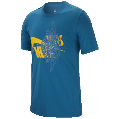 (取寄)ジョーダン メンズ フューチュラ ウィングス Tシャツ Jordan Men's Futura Wings T-Shirt Green Abyss University Gold
