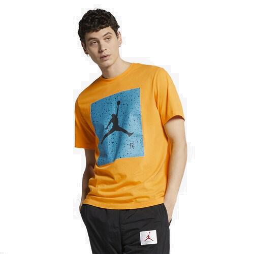 (取寄)ジョーダン メンズ プールサイド Tシャツ Jordan Men's Poolside T-Shirt University Gold Light Blue Fury Black