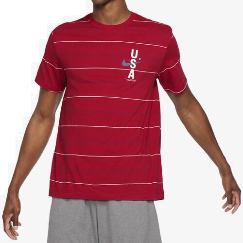 (取寄)ナイキ メンズ ドライフィット RWB AOP Tシャツ Nike Men's Dri-Fit RWB AOP T-Shirt Gym Red