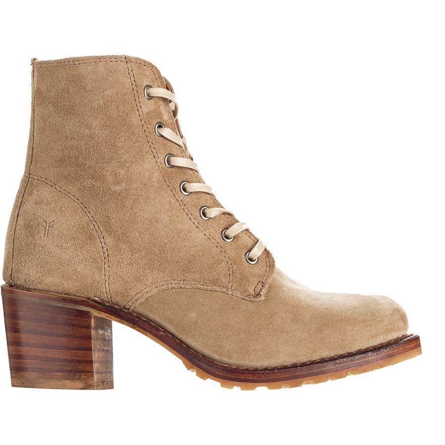 (取寄)フライ レディース サブリナ 6Gレース アップ ブーツ Frye Women Sabrina 6G Lace Up Boot Beige