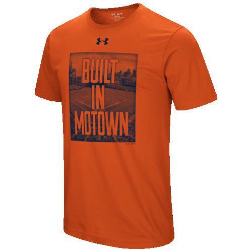 (取寄)アンダーアーマー メンズ MLB ビルト in Tシャツ デトロイト タイガース Underarmour Men's MLB Built In T-Shirt デトロイト タイガース Orange