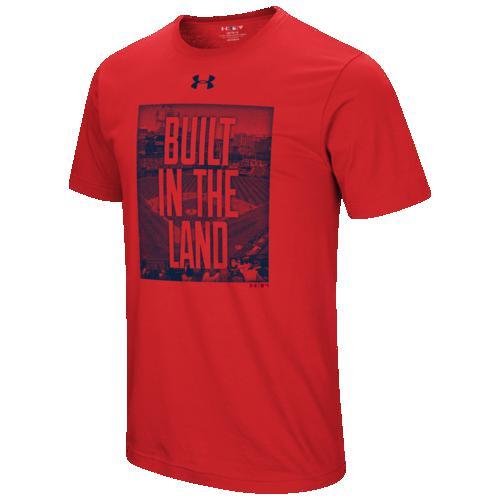 (取寄)アンダーアーマー メンズ MLB ビルト in Tシャツ クリーブランド インディアンス Underarmour Men's MLB Built In T-Shirt クリーブランド インディアンス Red