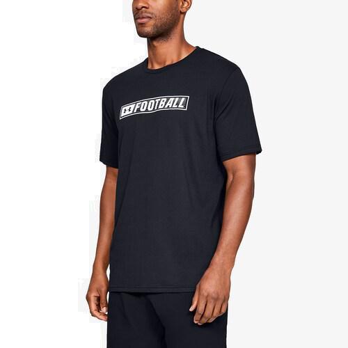 (取寄)アンダーアーマー メンズ フットボール マーク ショートスリーブ Tシャツ Underarmour Men's Football Mark S/S T-Shirt Black White