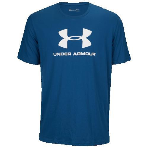 (取寄)アンダーアーマー メンズ スポーツスタイル ロゴ Tシャツ Underarmour Men's Sportstyle Logo T-Shirt Petrol Blue White