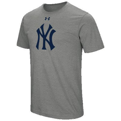 (取寄)アンダーアーマー メンズ MLB チーム ロゴ コア Tシャツ ニュー ヨーク ヤンキーズ Underarmour Men's MLB Team Logo Core T-Shirt ニュー ヨーク ヤンキーズ Grey