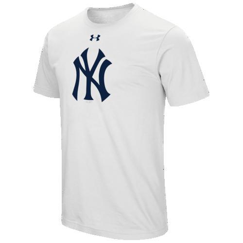 (取寄)アンダーアーマー メンズ MLB チーム ロゴ コア Tシャツ ニュー ヨーク ヤンキーズ Underarmour Men's MLB Team Logo Core T-Shirt ニュー ヨーク ヤンキーズ White
