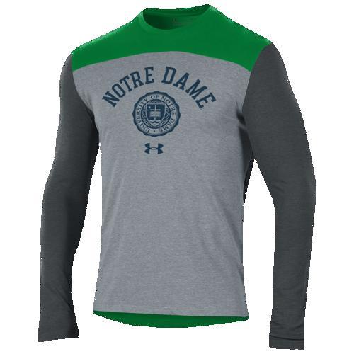 (取寄)アンダーアーマー メンズ カレッジ フリースタイル ブロック ロングスリーブ Tシャツ Underarmour Men's College Freestyle Blocked L/S T-Shirt Grey
