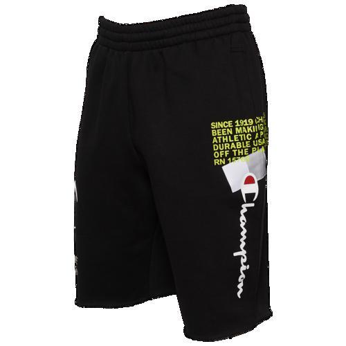 (取寄)チャンピオン メンズ スーパー フリース 2.0 BTL ショーツ Champion Men's Super Fleece 2.0 BTL Shorts Black