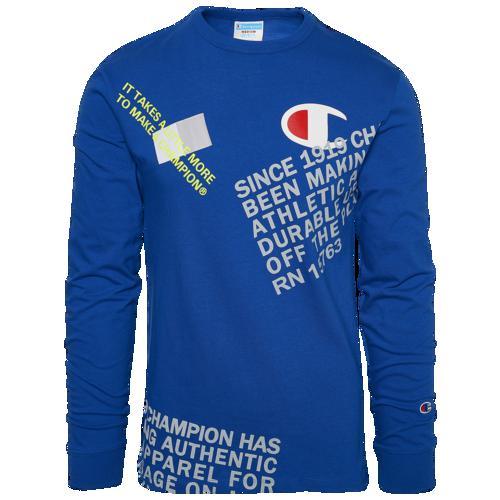 (取寄)チャンピオン メンズ ヘリテージ ビハインド ザ ラベル ロングスリーブ Tシャツ Champion Men's Heritage Behind The Label L/S T-Shirt Surf The Web