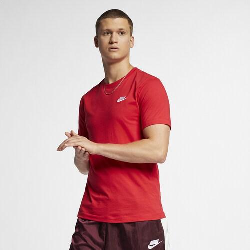 (取寄)ナイキ メンズ エンブロイダード フューチュラ Tシャツ Nike Men's Embroidered Futura T-Shirt University Red Black