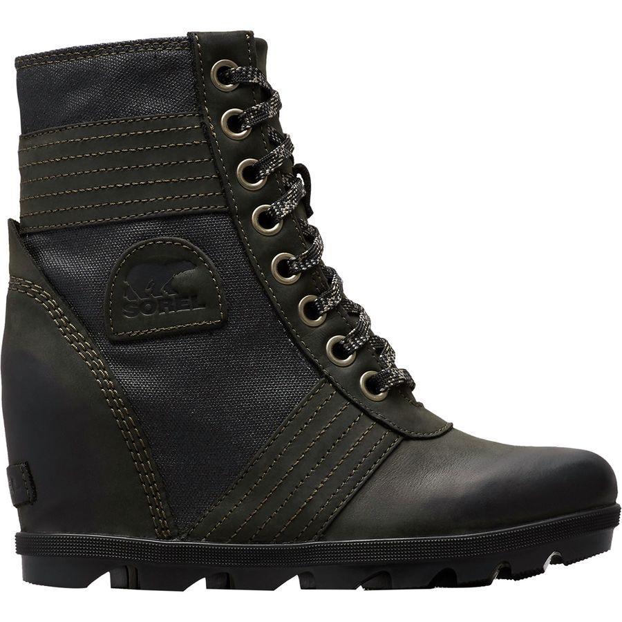 【トレッキング クライミング アウトドア 登山靴】 【レディース シューズ ブーツ 大きいサイズ】 (取寄)ソレル レディース レクシー ウェッジ ブーツ Sorel Women Lexie Wedge Boot Black Solid