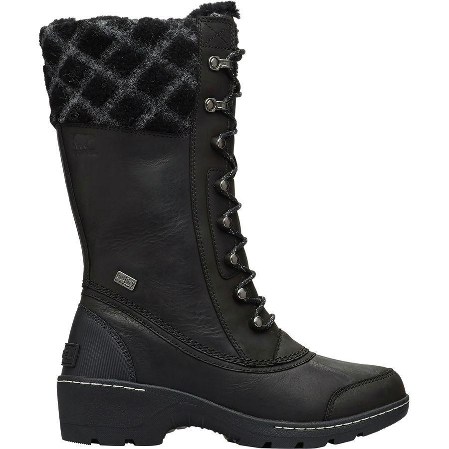 (取寄)ソレル レディース ウィスラー トール ブーツ Sorel Women Whistler Tall Boot Black/Dark Stone