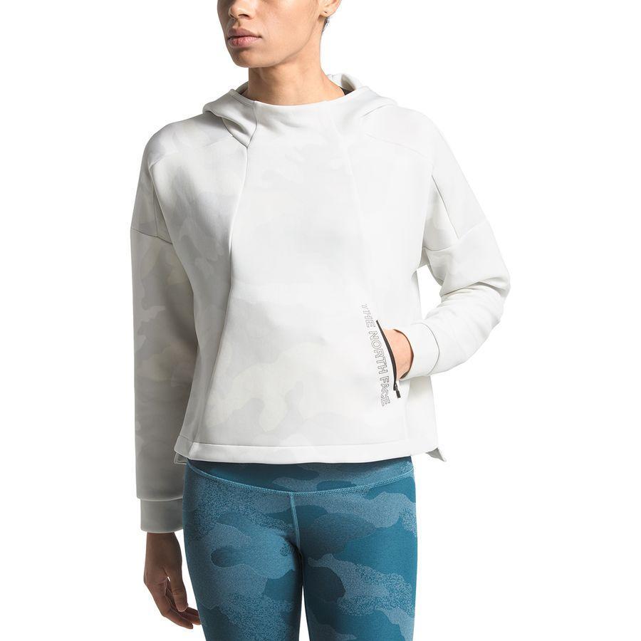 (取寄)ノースフェイス レディース インフィニティ トレイン クロップ パーカー The North Face Women Infinity Train Crop Hoodie Tnf White Waxed Camo Print