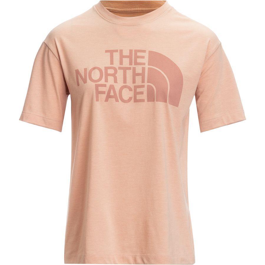 (取寄)ノースフェイス レディース リラックス ハーフ ドーム Tri-Blend Tシャツ The North Face Women Relaxed Half Dome Tri-Blend T-Shirt Misty Rose/Tnf White