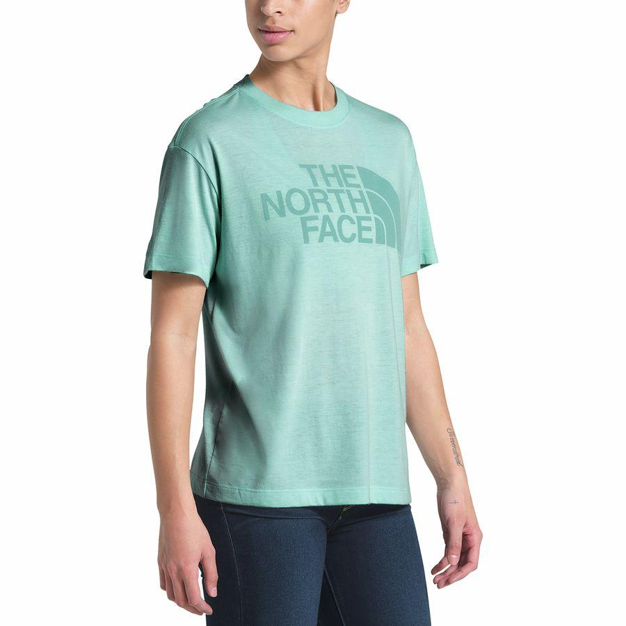 (取寄)ノースフェイス レディース リラックス ハーフ ドーム Tri-Blend Tシャツ The North Face Women Relaxed Half Dome Tri-Blend T-Shirt Windmill Blue Heather/Windmill Blue