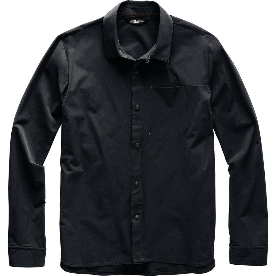【エントリーでポイント10倍】(取寄)ノースフェイス メンズ ノース ドーム ロングスリーブ シャツ The North Face Men's North Dome Long-Sleeve Shirt Tnf Black