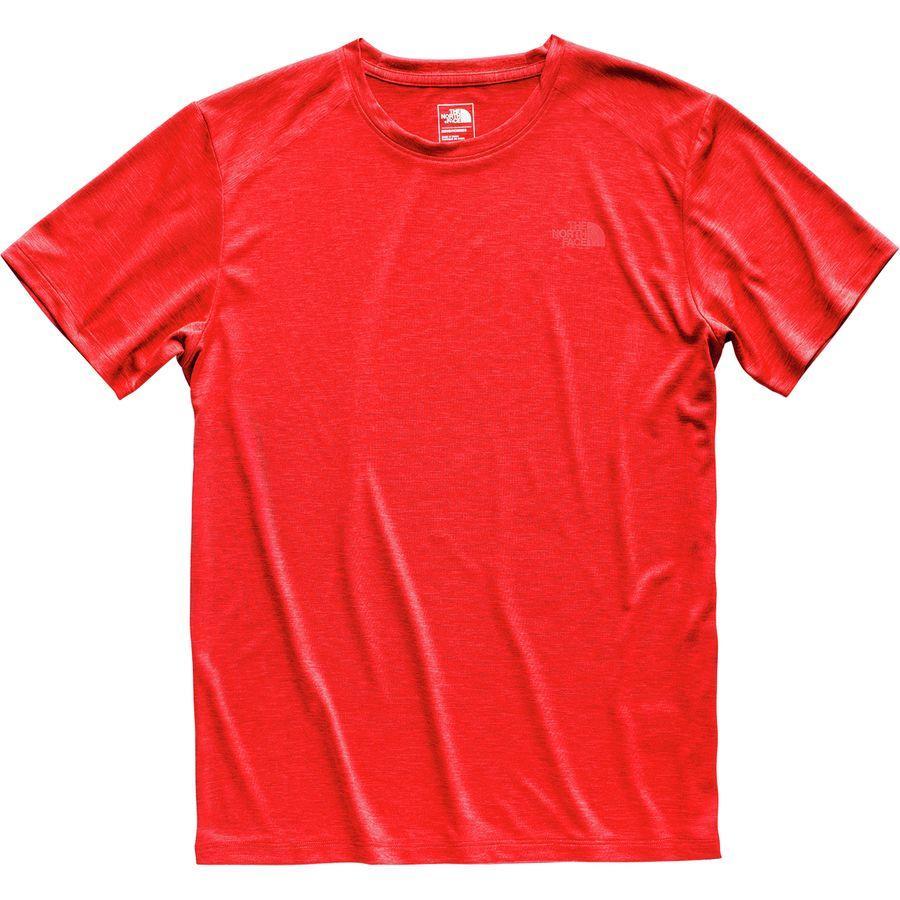 (取寄)ノースフェイス メンズ ハイパーレイヤー FDショートスリーブ クルー The North Face Men's Hyperlayer FD Short-Sleeve Crew Fiery Red Heather