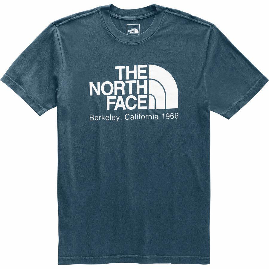 (取寄)ノースフェイス メンズ バック トゥ バークレー Tシャツ The North Face Men's Back To Berkeley T-Shirt Blue Wing Teal/Tnf White