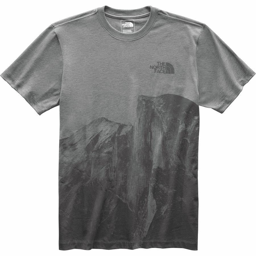(取寄)ノースフェイス メンズ Free-Soloハーフ ドーム Tシャツ The North Face Men's Free-Solo Half Dome T-Shirt Tnf Medium Grey Heather