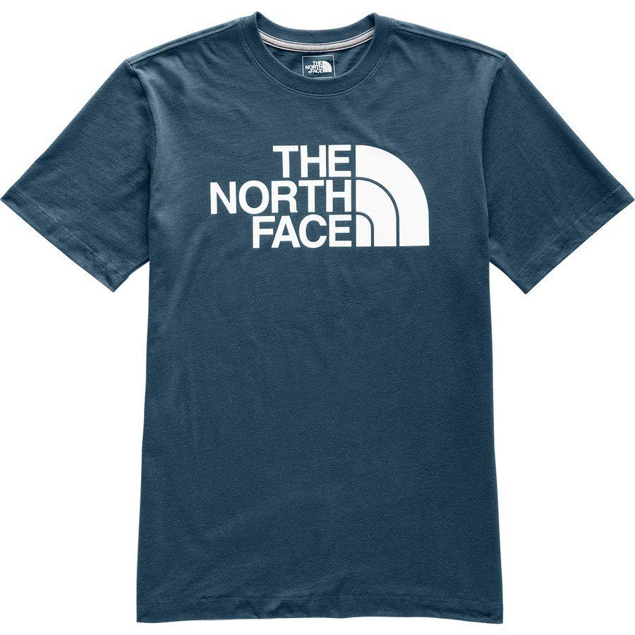 (取寄)ノースフェイス メンズ ハーフ ドーム Tシャツ The North Face Men's Half Dome T-Shirt Blue Wing Teal/Tnf White