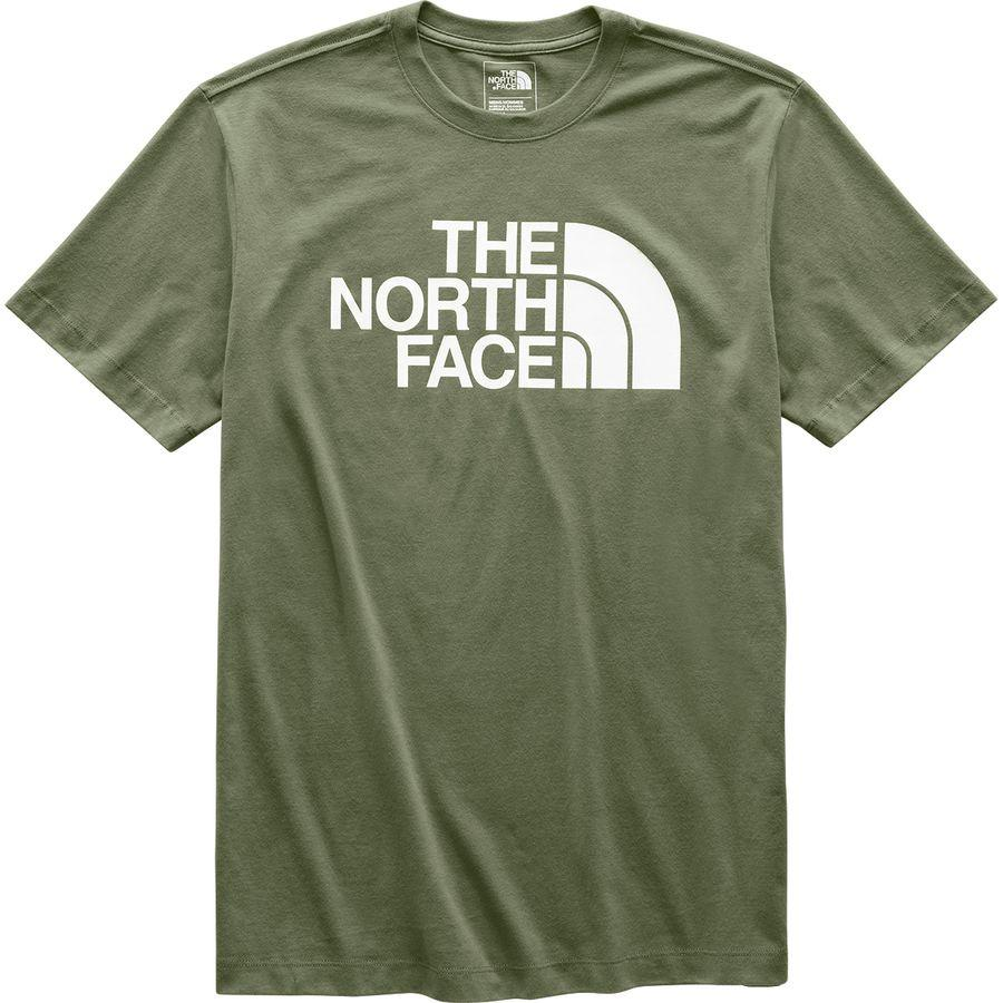 (取寄)ノースフェイス メンズ ハーフ ドーム Tシャツ The North Face Men's Half Dome T-Shirt Burnt Olive Green/Tnf White
