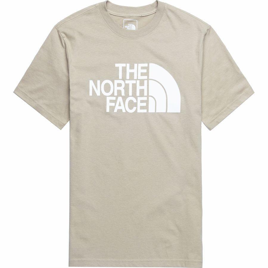 (取寄)ノースフェイス メンズ ハーフ ドーム Tシャツ The North Face Men's Half Dome T-Shirt Crockery Beige/Tnf White