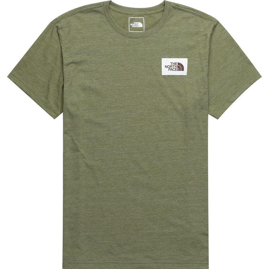 (取寄)ノースフェイス メンズ ヘリテイジ Tri-Blend Tシャツ The North Face Men's Heritage Tri-Blend T-Shirt Burnt Olive Green Heather