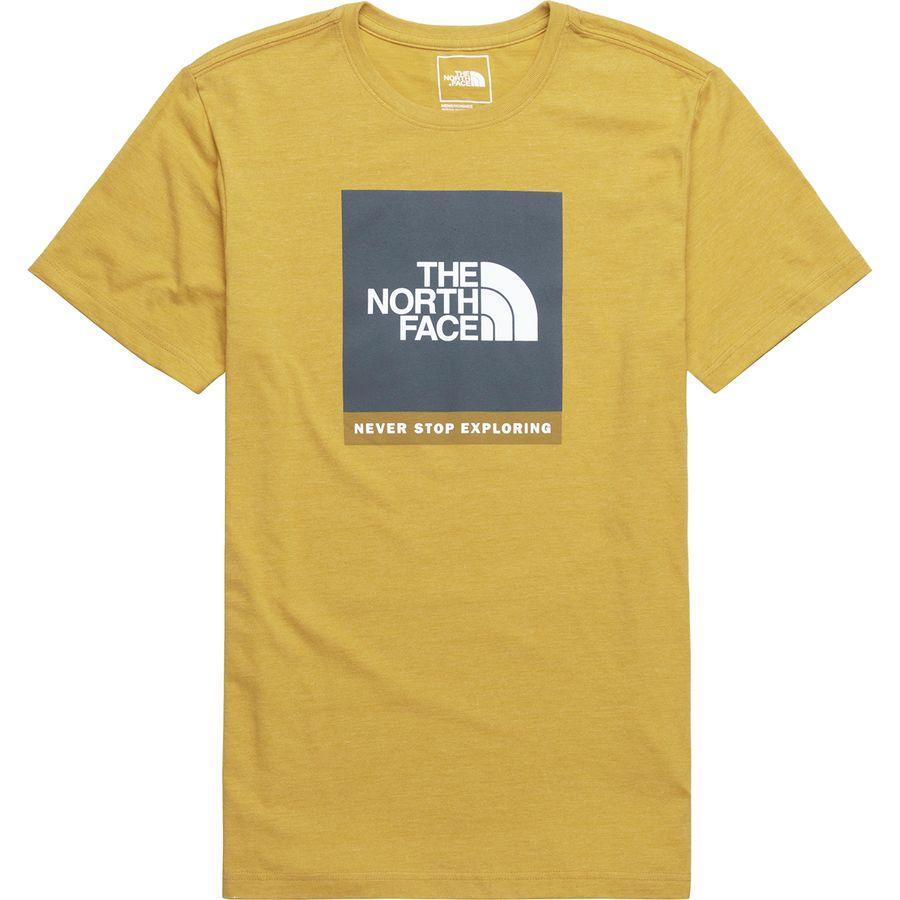 (取寄)ノースフェイス メンズ ボックスド アウト Tri-Blend Tシャツ The North Face Men's Boxed Out Tri-Blend T-Shirt Golden Spice Heather/Asphalt Grey