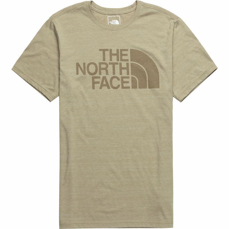 (取寄)ノースフェイス メンズ ハーフ ドーム Tri-Blend Tシャツ The North Face Men's Half Dome Tri-Blend T-Shirt Crockery Beige Heather/Crockery Beige
