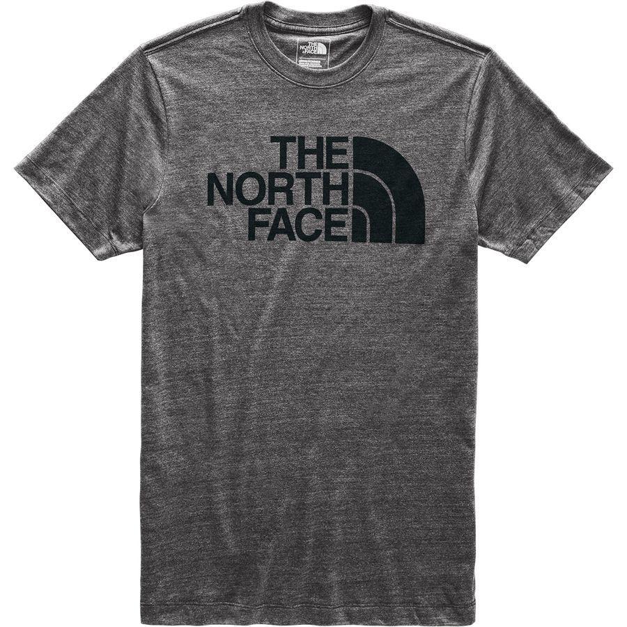 (取寄)ノースフェイス メンズ ハーフ ドーム Tri-Blend Tシャツ The North Face Men's Half Dome Tri-Blend T-Shirt Tnf Dark Grey Heather/Tnf Black
