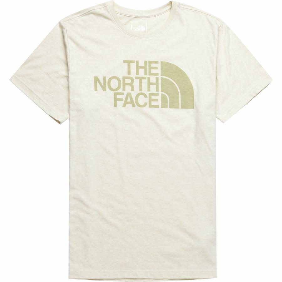 (取寄)ノースフェイス メンズ ハーフ ドーム Tri-Blend Tシャツ The North Face Men's Half Dome Tri-Blend T-Shirt Vintage White Heather/Vintage White
