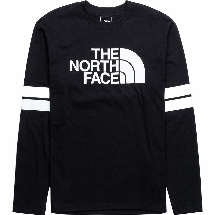 (取寄)ノースフェイス メンズ カレージエート ロングスリーブ ロングスリーブ Tシャツ The North Face Men's Collegiate Long-Sleeve T-Shirt Tnf Black/Tnf White