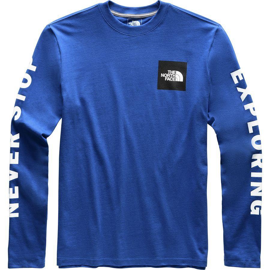 (取寄)ノースフェイス メンズ カレージエート ロングスリーブ ロングスリーブ Tシャツ The North Face Men's Collegiate Long-Sleeve T-Shirt Tnf Blue/Tnf Black
