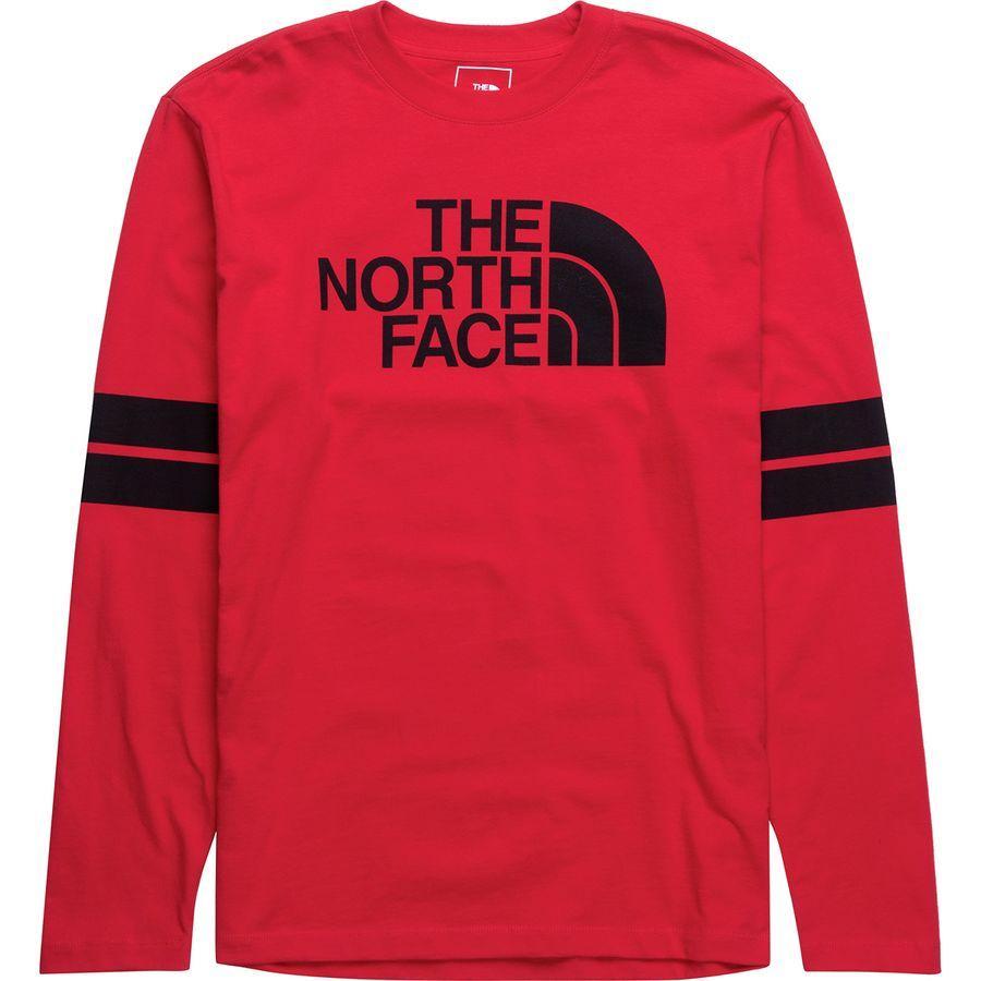 (取寄)ノースフェイス メンズ カレージエート ロングスリーブ ロングスリーブ Tシャツ The North Face Men's Collegiate Long-Sleeve T-Shirt Tnf Red/Tnf Black