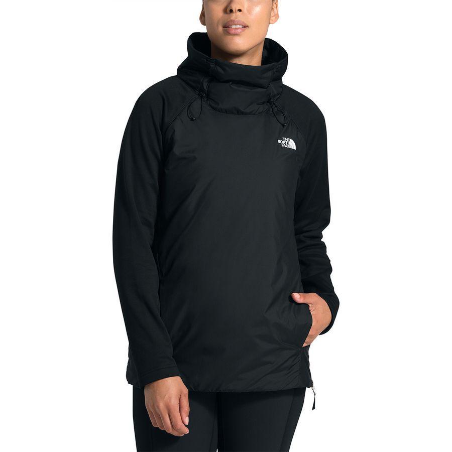(取寄)ノースフェイス レディース キャニオンランズ インサレーテッド ハイブリッド プルオーバー The North Face Women Canyonlands Insulated Hybrid Pullover Tnf Black/Tnf Black