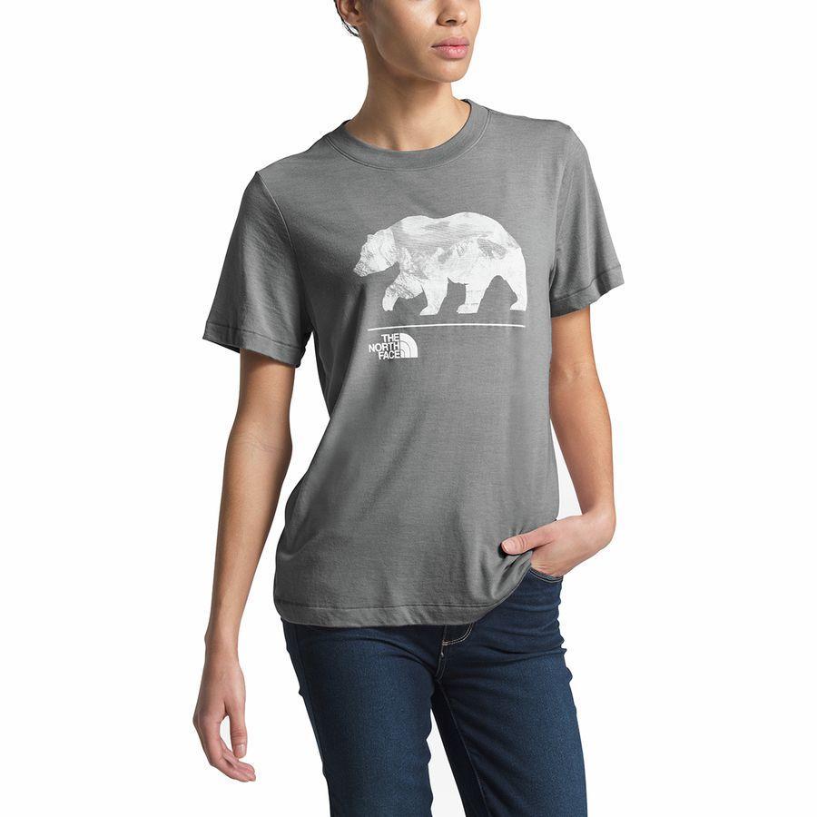 (取寄)ノースフェイス レディース ベアリンダ Tri-Blend Tシャツ The North Face Women Bearinda Tri-Blend T-Shirt Tnf Medium Grey Heather