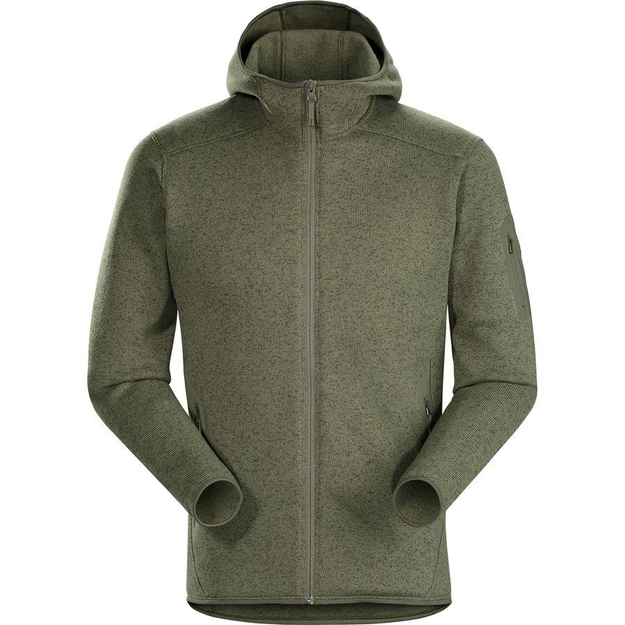 (取寄)アークテリクス メンズ コバート フリース フーデッド ジャケット Arc'teryx Men's Covert Fleece Hooded Jacket Arbour Heather
