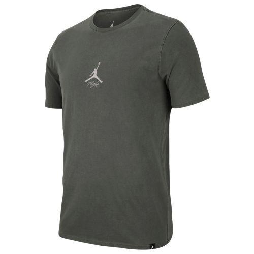 ジョーダン メンズ 半袖Tシャツ JSW ウォッシュド ウィングス Tシャツ グレー 灰 Jordan Men's JSW Washed Wings T-Shirt Black