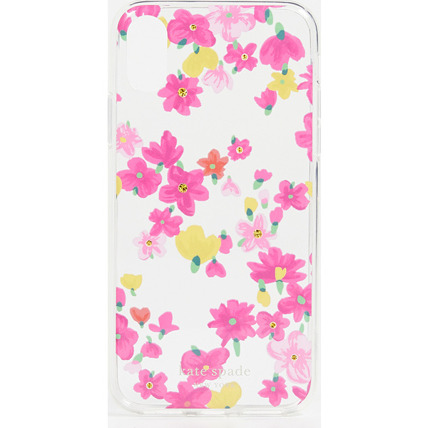 (取寄)ケイトスペード ジュエルド マーカー フローラル アイフォン XS / X ケース Kate Spade New York Jeweled Marker Floral iPhone XS / X Case ClearMulti