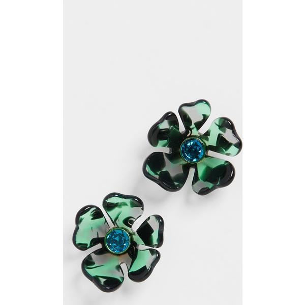 (取寄)ケイトスペード スモール フラワー スタッズ ピアス Kate Spade New York Small Flower Stud Earrings GreenMulti