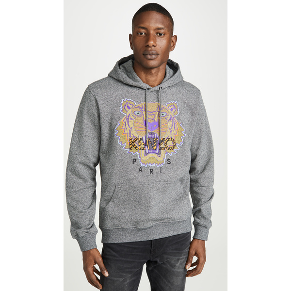 【エントリーでポイント10倍】(取寄)ケンゾー ハイキング タイガー プルオーバー スウェットシャツ KENZO Hiking Tiger Pullover Sweatshirt Grey