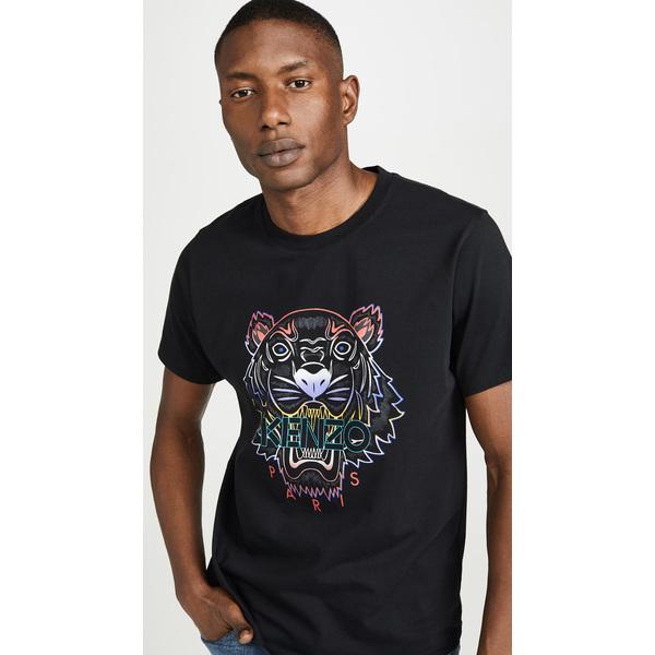 【エントリーでポイント10倍】(取寄)ケンゾー グラジエント タイガー ティー シャツ KENZO Gradient Tiger Tee Shirt Black