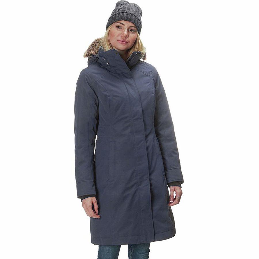(取寄)マーモット レディース チェルシー ダウン コート Marmot Women Chelsea Down Coat Steel Onyx