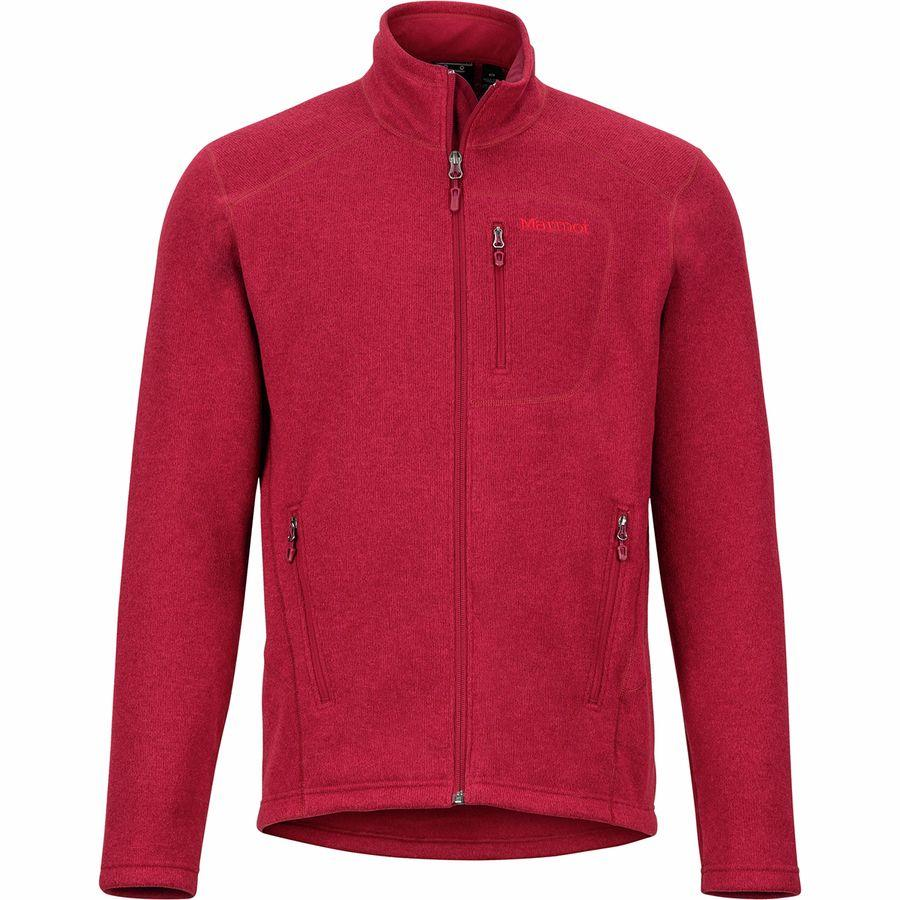 【クーポンで最大2000円OFF】(取寄)マーモット メンズ ドロップ ライン フリース ジャケット Marmot Men's Drop Line Fleece Jacket Brick