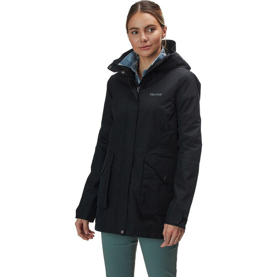 【マラソン ポイント10倍】(取寄)マーモット レディース ウェンド ジャケット Marmot Women Wend Jacket Black